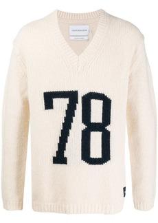 Calvin Klein '78' intarsia knit jumper