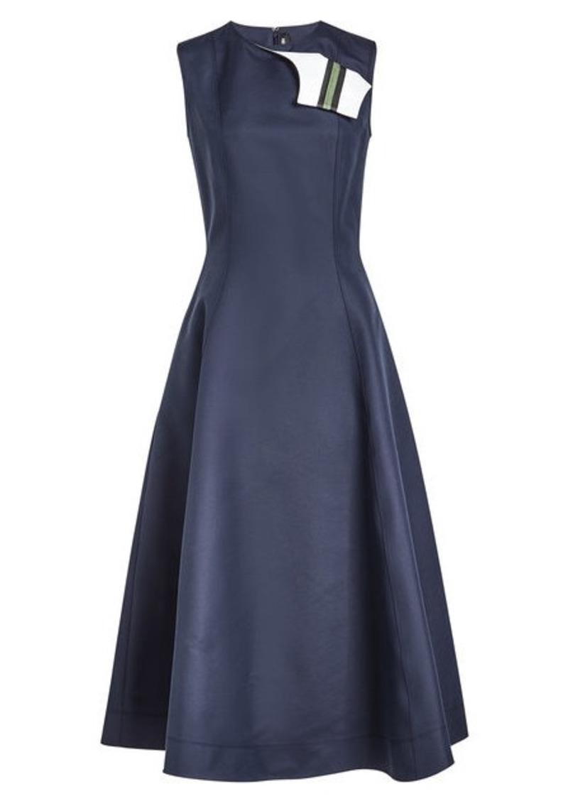 Calvin Klein A-Line Dress in Cotton and Silk