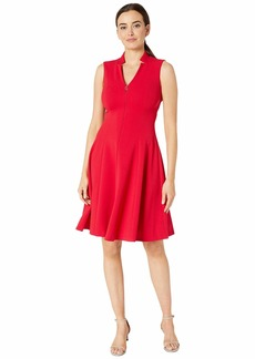 Calvin Klein A-Line Dress w/ CK Logo Zipper Front