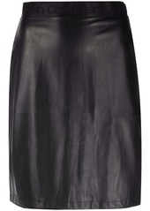 Calvin Klein a-line leather-look skirt