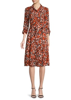 Calvin Klein Abstract-Print Shirtdress