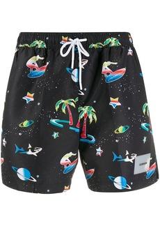 Calvin Klein all-over print swim shorts