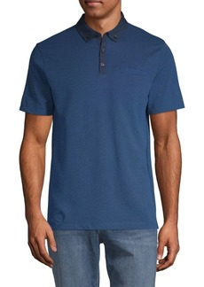 Calvin Klein Allover Feeder Cotton Polo