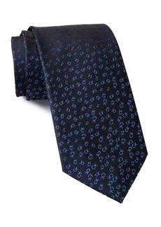 Calvin Klein Allover Tossed Logo Silk Tie