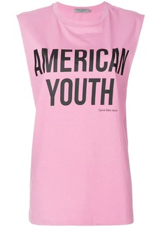 Calvin Klein American youth printed T-shirt
