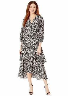 Calvin Klein Animal Print Midi Dress