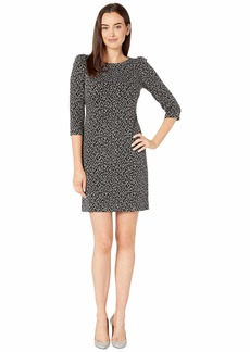 Calvin Klein Animal Print Ponte Dress