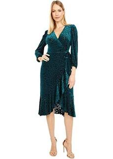 Calvin Klein Animal Print Velvet Burnout Dress