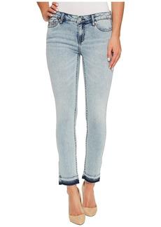Calvin Klein Ankle Skinny Jeans in Isla Blue Destruct Wash