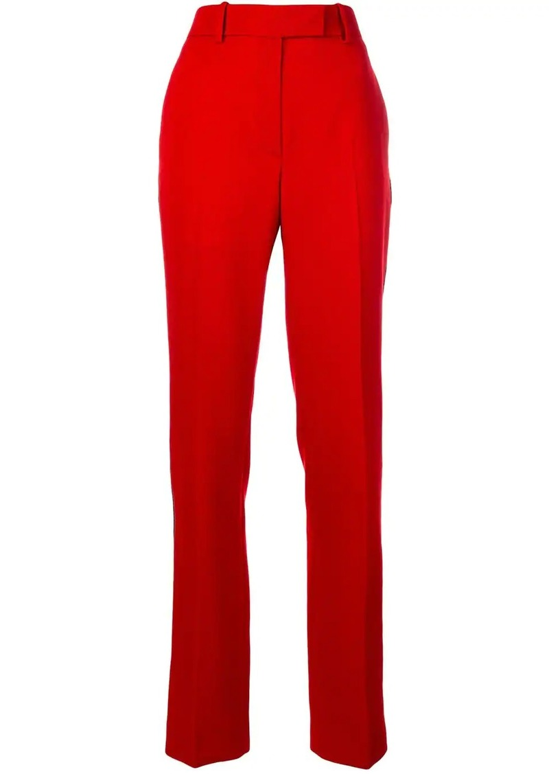 Calvin Klein appliqué stripe trousers