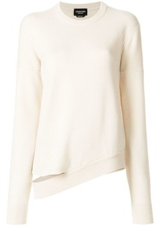 Calvin Klein asymmetric hem knitted jumper