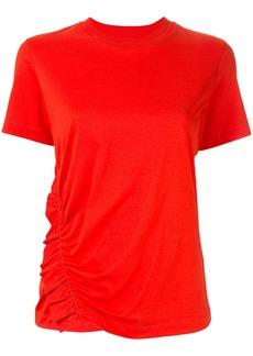 Calvin Klein asymmetric ruche detail T-shirt