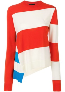 Calvin Klein asymmetric striped jumper