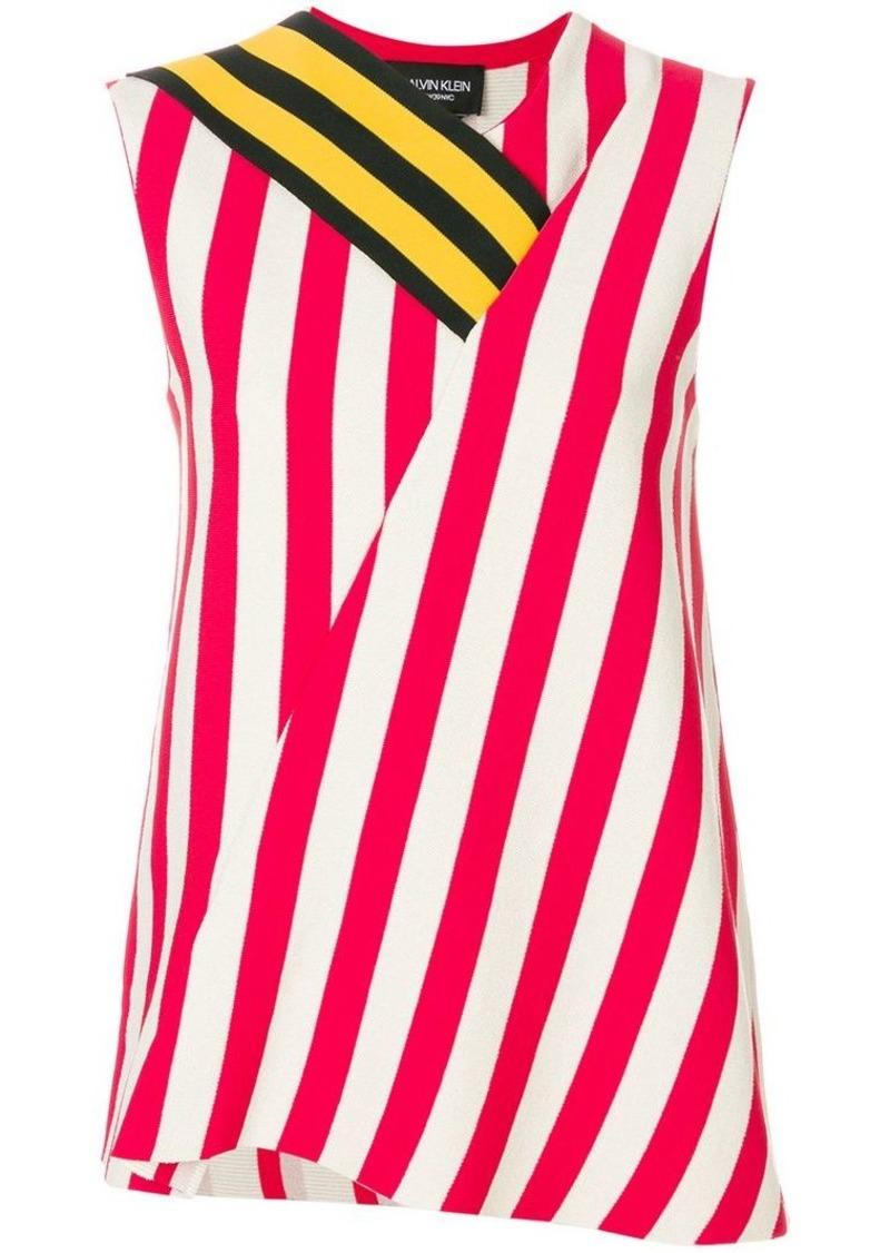Calvin Klein asymmetric striped top