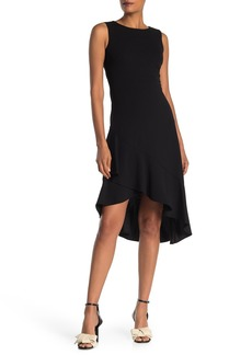 Calvin Klein Asymmetrical Flutter Hem Dress