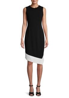 Calvin Klein Asymmetrical Hem Sheath Dress