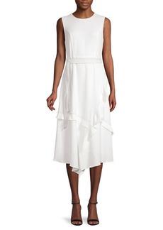 Calvin Klein Asymmetrical Ruffle A-Line Dress