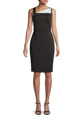 Calvin Klein Asymmetrical Sleeveless Sheath Dress