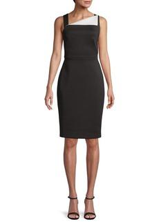 Calvin Klein Asymmetrical Sleeveless Sheath Dress