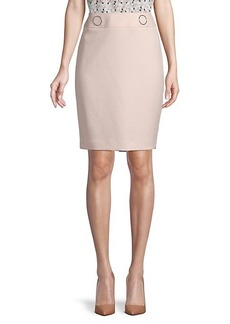 Calvin Klein Back-Zip Skirt