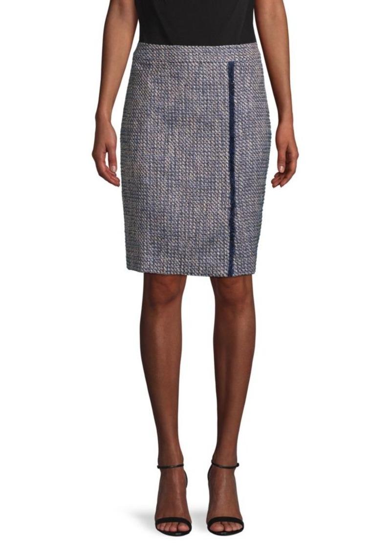 Calvin Klein Banded Tweed Skirt