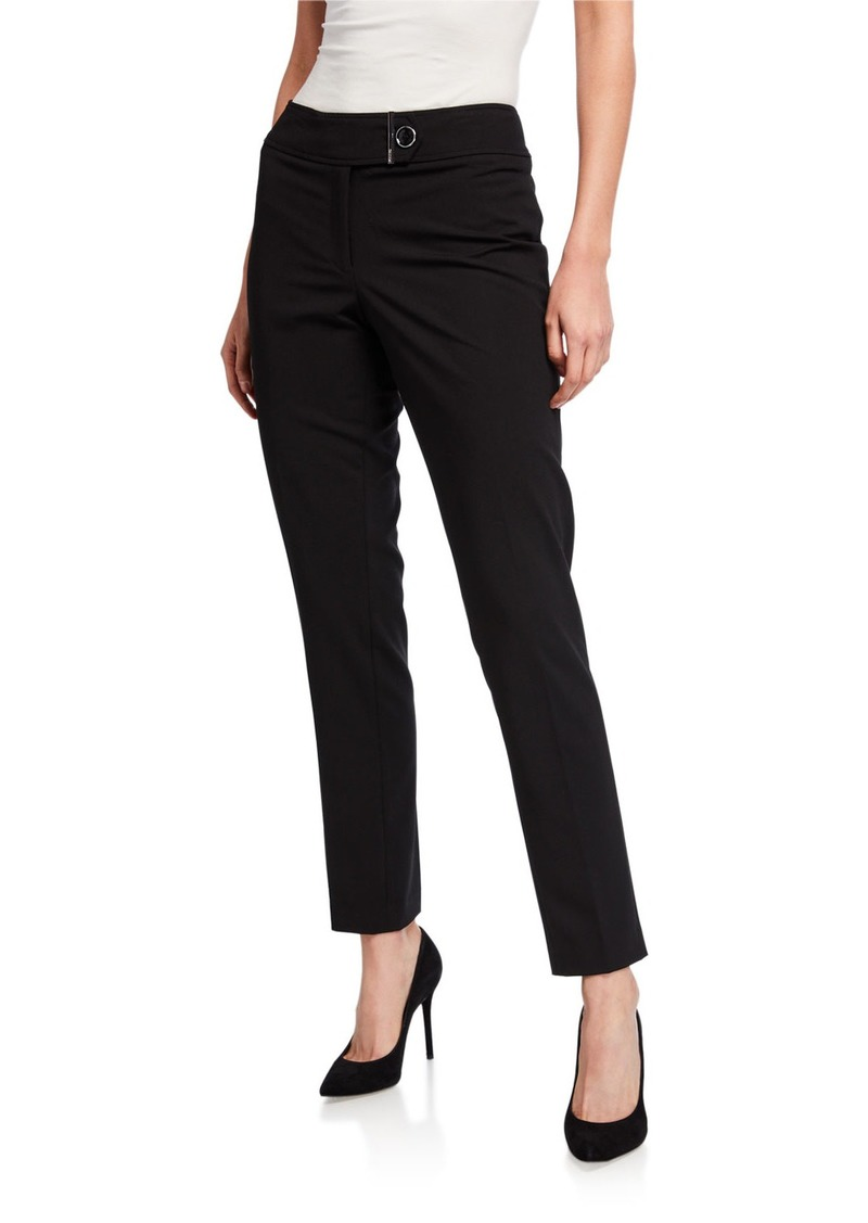 Calvin Klein Bar Accent Straight-Leg Pants