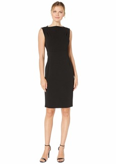 Calvin Klein Bateau Neck Sheath Dress