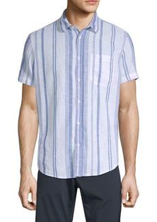 Calvin Klein Classic-Fit Beach Stripe Cotton Shirt