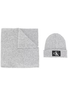 Calvin Klein beanie and scarf set