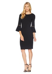 Calvin Klein Bell Sleeve Dress with Hardwire Detail CD8C14LJ