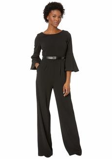 Calvin Klein Bell Sleeve Jumpsuit with Logo Belt CD8C17B7