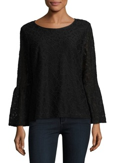 Calvin Klein Bell-Sleeve Lace Top