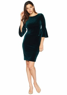 Calvin Klein Bell Sleeve Velvet Dress CD8V133E