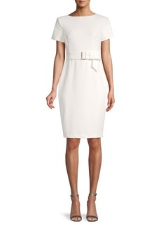 Calvin Klein Belt-Band Sheath Dress