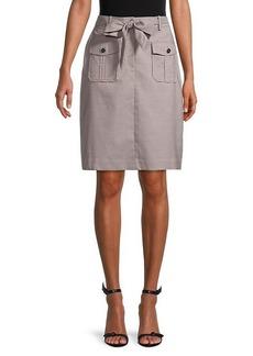 Calvin Klein Belted Check Skirt