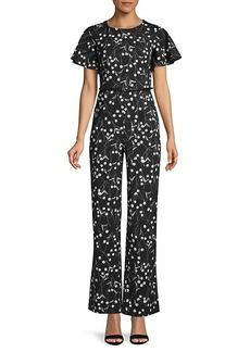 Calvin Klein Belted Floral Jumpsuit