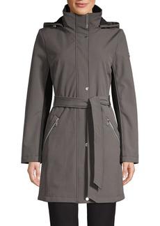 Calvin Klein Belted Hooded Coat