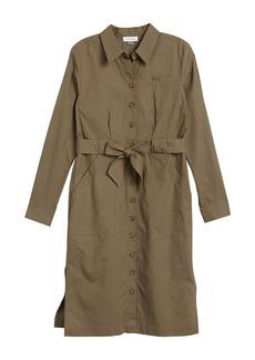 Calvin Klein Belted Long Sleeve Shirt Dress