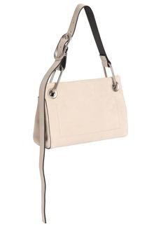 Calvin Klein Belted Suede Shoulder Bag