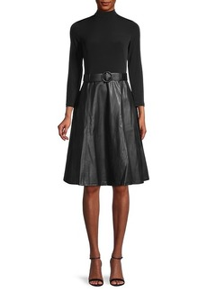 Calvin Klein Belted Twofer Dress