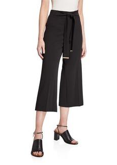 Calvin Klein Belted Wide-Leg Culottes