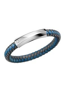 Calvin Klein Bewilder Braided Leather Bracelet