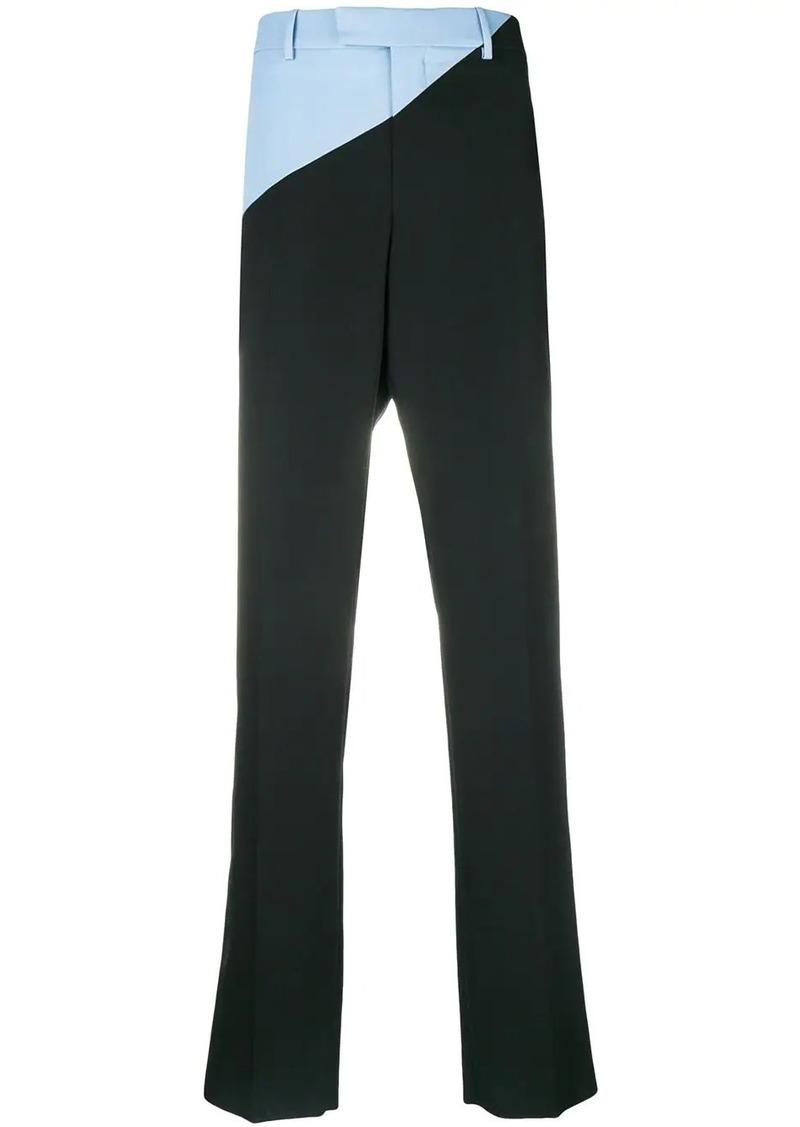 Calvin Klein bicolour straight leg trousers