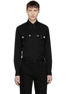 Calvin Klein Black Wool Flap Pocket Shirt