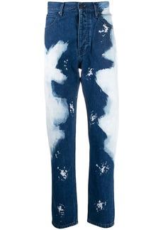 Calvin Klein bleached straight-leg jeans