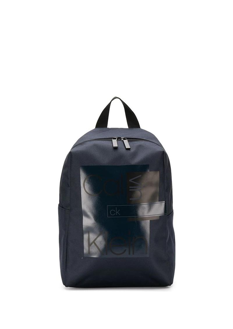 Calvin Klein block print twill backpack