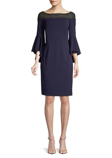 Calvin Klein Boatneck Bell-Sleeve Sheath Dress