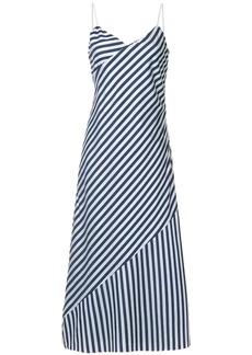 Calvin Klein bold stripe slip dress