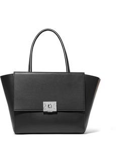 Calvin Klein Bonnie Large Grosgrain-trimmed Leather Tote