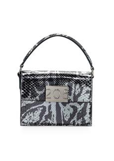 Calvin Klein Bonnie Small Python Top-Handle Crossbody Bag